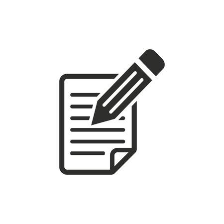 Registration  icon  on white background. Vector illustration.