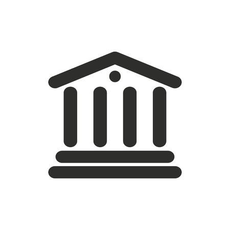 judgments: Court  icon  on white background. Vector illustration.