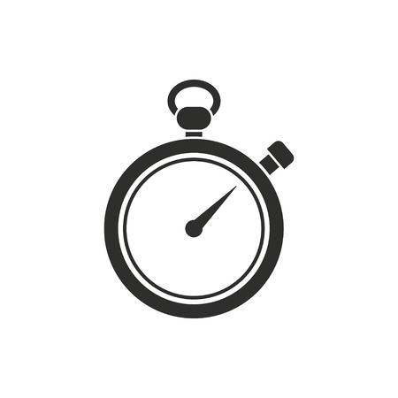 Stopwatch icon on white background. Vector illustration.