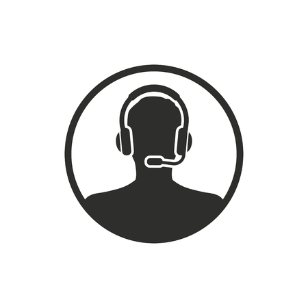 handsfree: Assistance  icon  on white background. Vector illustration. Illustration