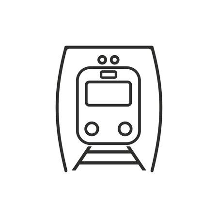 high speed railway: Metro  icon  on white background. Vector illustration. Illustration
