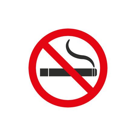 pernicious habit: Smoke  icon  on white background. Vector illustration.