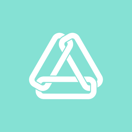 pressure linked: Link     vector icon. White  illustration isolated on green  background for graphic and web design.