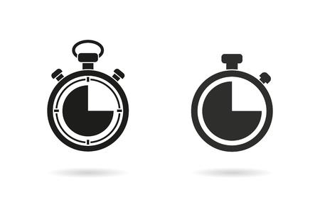 vettore icona del cronometro. Nero illustrazione isolato su sfondo bianco per la progettazione grafica e web.