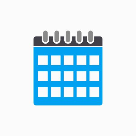 end of the days: Calendar   vector icon. Illustration isolated on white  background for graphic and web design. Illustration