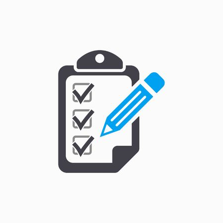Clipboard pencil   vector icon. Illustration isolated on white  background for graphic and web design. Illustration