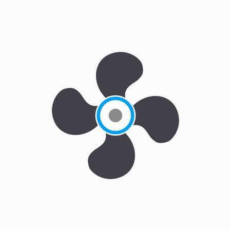 Fan-Vektor-Symbol. Illustration auf weißem Hintergrund für Grafik und Web-Design.