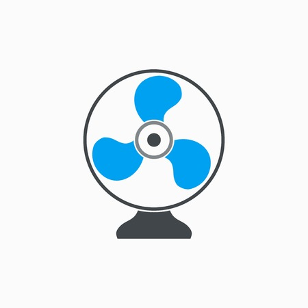 venting: Fan   vector icon. Illustration isolated on white  background for graphic and web design. Illustration