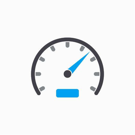 tester: Speedometer   vector icon. Illustration isolated on white  background for graphic and web design. Illustration