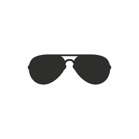 aviators: Sunglasses   vector icon. Black  illustration isolated on white  background for graphic and web design. Illustration