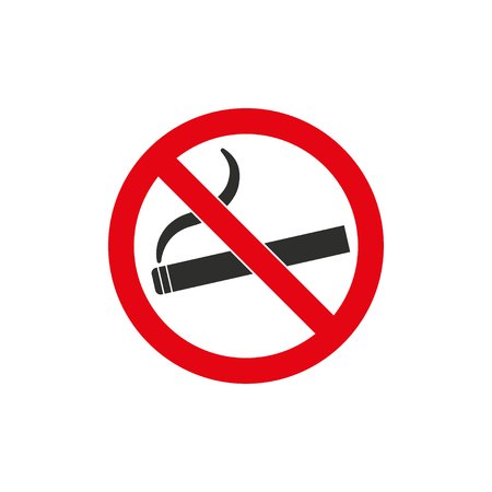smoldering cigarette: Smoke   vector icon. Black  illustration isolated on white  background for graphic and web design.