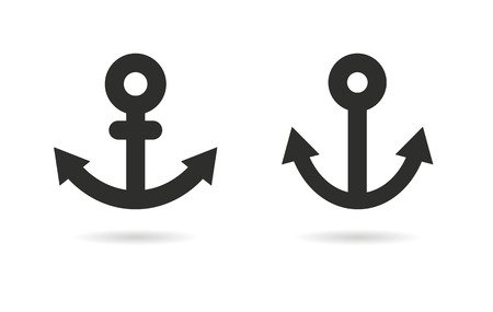 navy pier: Anchor   vector icon. Black  illustration isolated on white  background for graphic and web design.