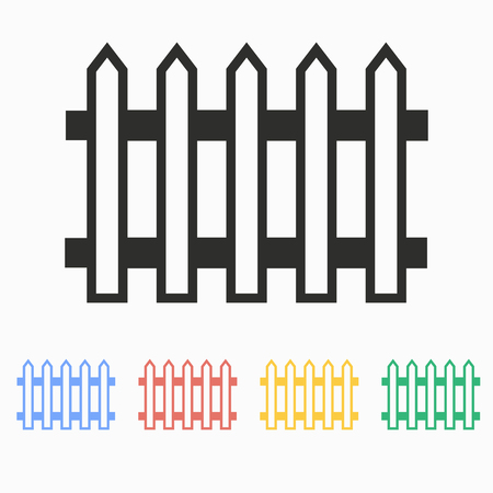 railings: Fence  vector icon. Illustration isolated on white  background for graphic and web design.