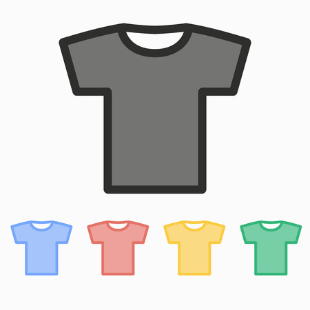 office wear: T-shirt  vector icon. Illustration isolated on white  background for graphic and web design.