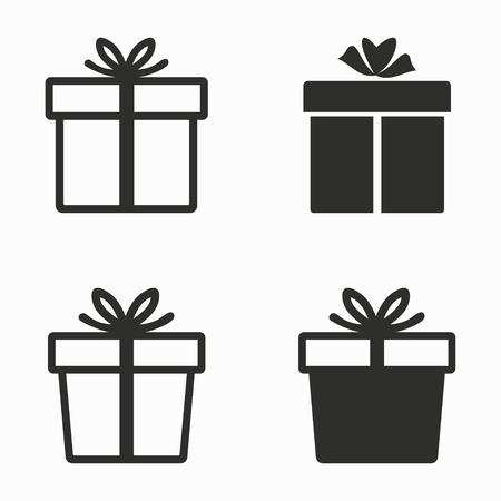 gift box vector icons set black illustration isolated on royalty rh 123rf com box vector m35 box vector free