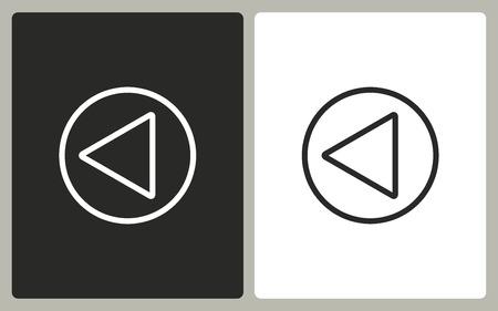 backward: Backward  -  black and white icons. Vector illustration. Illustration