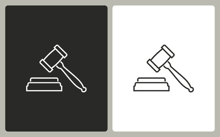 tribunal: Court   -  black and white icons. Vector illustration.