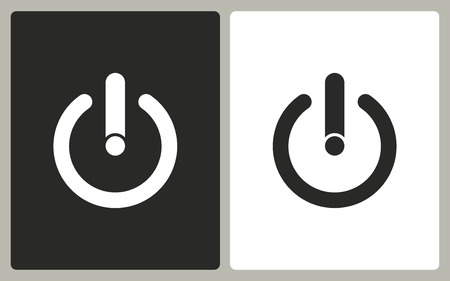 off the record: Start   -  black and white icons. Vector illustration. Illustration