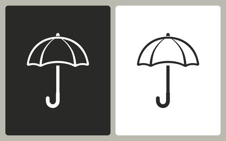 brolly: Umbrella   -  black and white icons. Vector illustration. Illustration