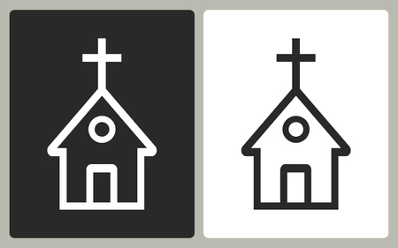 born again: Church   -  black and white icons. Vector illustration. Illustration