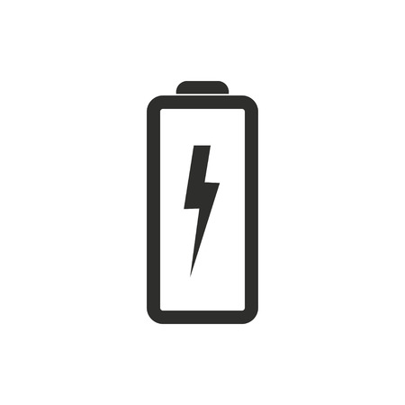 button batteries: Battery   vector icon. Black  illustration isolated on white  background for graphic and web design.