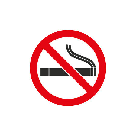 no sign: Smoke   vector icon. Black  illustration isolated on white  background for graphic and web design.