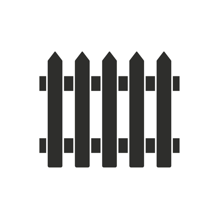 dissociation: Fence   vector icon. Black  illustration isolated on white  background for graphic and web design.