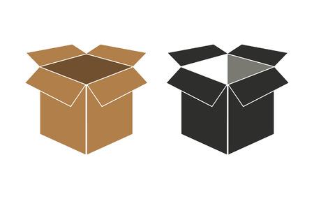 stockpile: Box   vector icon. Black  illustration isolated on white  background for graphic and web design. Illustration