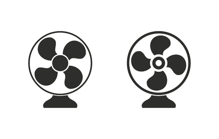 black fan: Fan   vector icon. Black  illustration isolated on white  background for graphic and web design. Illustration