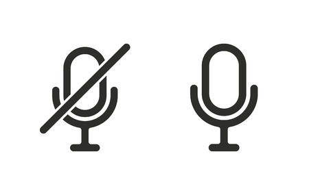 amplification: Microphone   vector icon. Black  illustration isolated on white  background for graphic and web design. Illustration