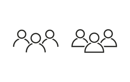 People   vector icon. Black  illustration isolated on white  background for graphic and web design.