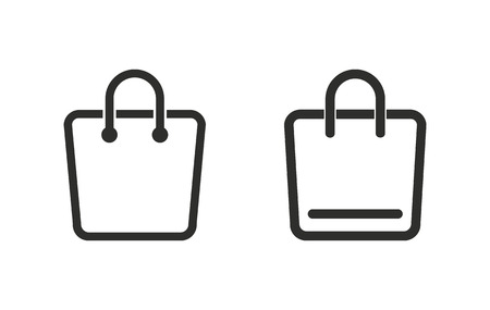 shopping bag vector: Shopping bag   vector icon. Black  illustration isolated on white  background for graphic and web design. Illustration