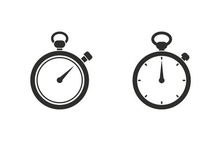 Chronomètre icône vecteur. Noir illustration isolé sur fond blanc pour la conception graphique et web.