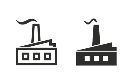 distillery: Factory   vector icon. Black  illustration isolated on white  background for graphic and web design.