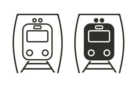 locomotion: Metro   vector icon. Black  illustration isolated on white  background for graphic and web design. Illustration