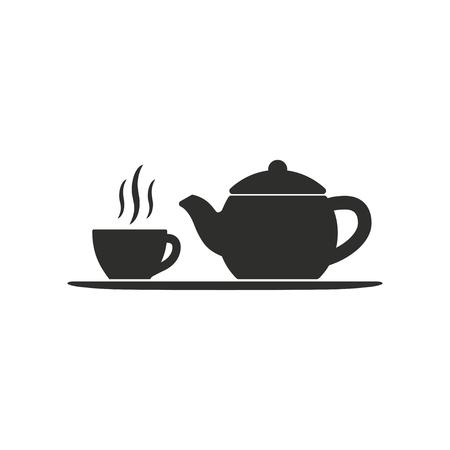 Tee-Vektor-Symbol. Illustration auf weißem Hintergrund für Grafik und Web-Design.