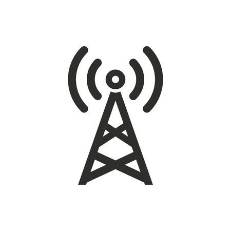 communication tower: Communication tower   vector icon. Illustration isolated on white  background for graphic and web design.