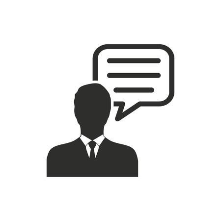Ikona wektor doradztwo w zakresie zarządzania. Ilustracja odizolowywająca na białym tle dla grafiki i sieci projekta.