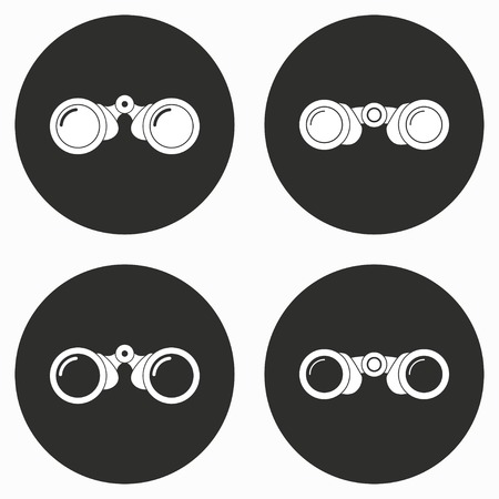 spectator: Binocular    vector icon. Illustration isolated for graphic and web design.