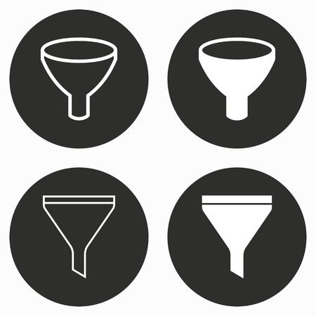 funnel: Funnel    vector icon. Illustration isolated for graphic and web design.