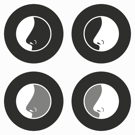 sensory perception: Nose     vector icon. Illustration isolated for graphic and web design.