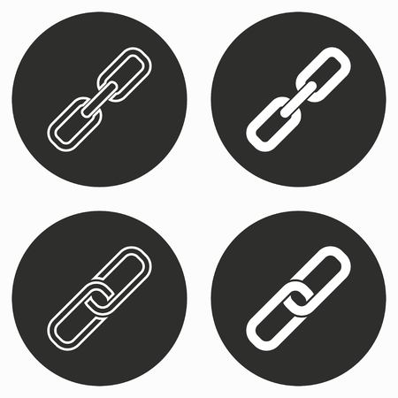 pressure linked: Link     vector icon. Illustration isolated for graphic and web design.