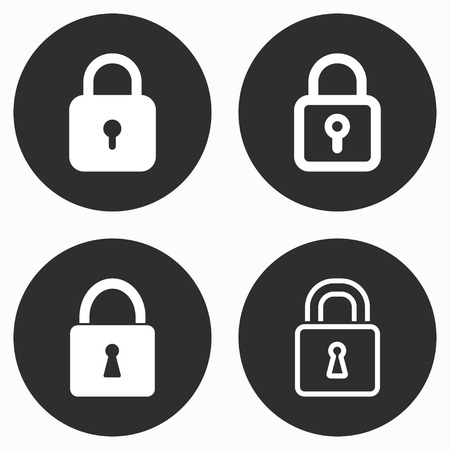 secret code: Lock    vector icon. Illustration isolated for graphic and web design. Illustration