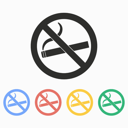 abstain: Smoke  vector icon. Illustration isolated on white  background for graphic and web design.