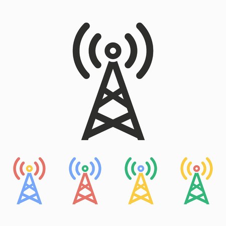 communication tower: Communication tower  vector icon. Illustration isolated on white  background for graphic and web design. Illustration