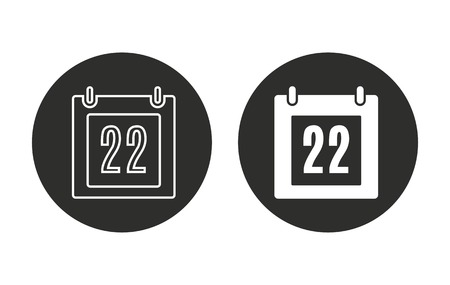 end of the days: Calendar    vector icon. Illustration isolated for graphic and web design.