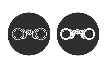 spectators: Binocular    vector icon. Illustration isolated for graphic and web design.