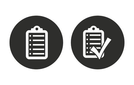 filling folder: Checklist    vector icon. Illustration isolated for graphic and web design. Illustration