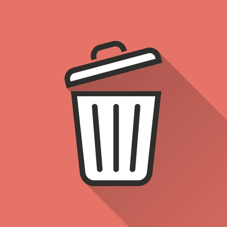 sewage: Bin    vector icon. Illustration isolated for graphic and web design. Illustration