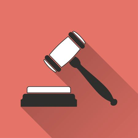 tribunal: Court    vector icon. Illustration isolated for graphic and web design.